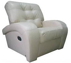 Комплект шкіряних меблів Вінс. (3р+1+1), фото 2