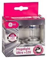 GE Megalight Ultra +120% / тип лампы Н4 / 2шт.