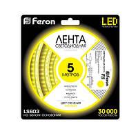 Светодиодная лента Feron SANAN LS603 60SMD/м 12V IP20 желтый