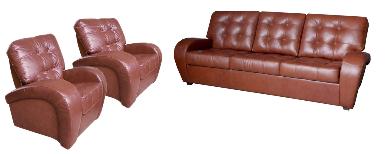 Комплект шкіряних меблів Вінс. (3р+1+1)