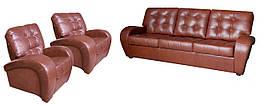 Комплект кожаной мебели Винс. (3р+1+1)