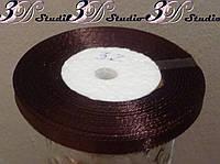 Лента атласная цвет №32 (шоколадный) шириной 0,6 см