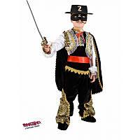 """Детский карнавальный костюм для мальчика """"Зорро"""" 8 лет ТМ Veneziano 1066"""