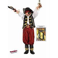 """Детский карнавальный костюм для мальчика """"Пират"""" 11 лет ТМ Veneziano 50492"""
