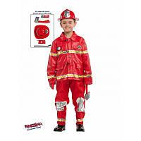"""Детский карнавальный костюм для мальчика """"Пожарный"""" 6 лет ТМ Veneziano 53140"""