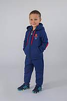 Детский спортивный костюм для мальчика 4-8 лет (толстовка+брюки) ТМ Модный карапуз (синий) 03-00612-0