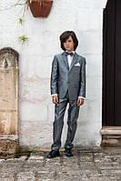 Костюм классический для мальчика 9-11 лет (брюки, пиджак, рубашка, бабочка) р. 134-146 ТМ Les Gamins Италия CM5048