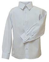 Рубашка Trend с длинным рукавом для мальчика р. 134 белый в голубую полоску Bebepa