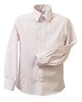 Рубашка Trend с длинным рукавом для мальчика р. 140 белый в розовую полоску Bebepa
