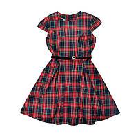 Платье для девочки шерсть Timbo P025636 р.122 красный в клетку