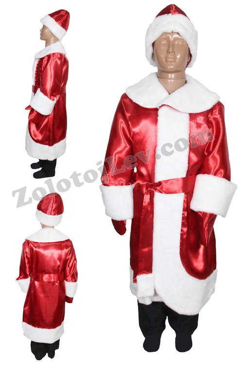 Костюм Новый Год, Дед Мороз для ребенка рост 146