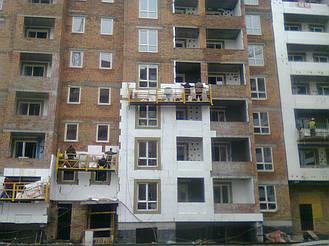 Утепления фасада жк Акварель г.Киев 2000кв.м сроки 45дней 1