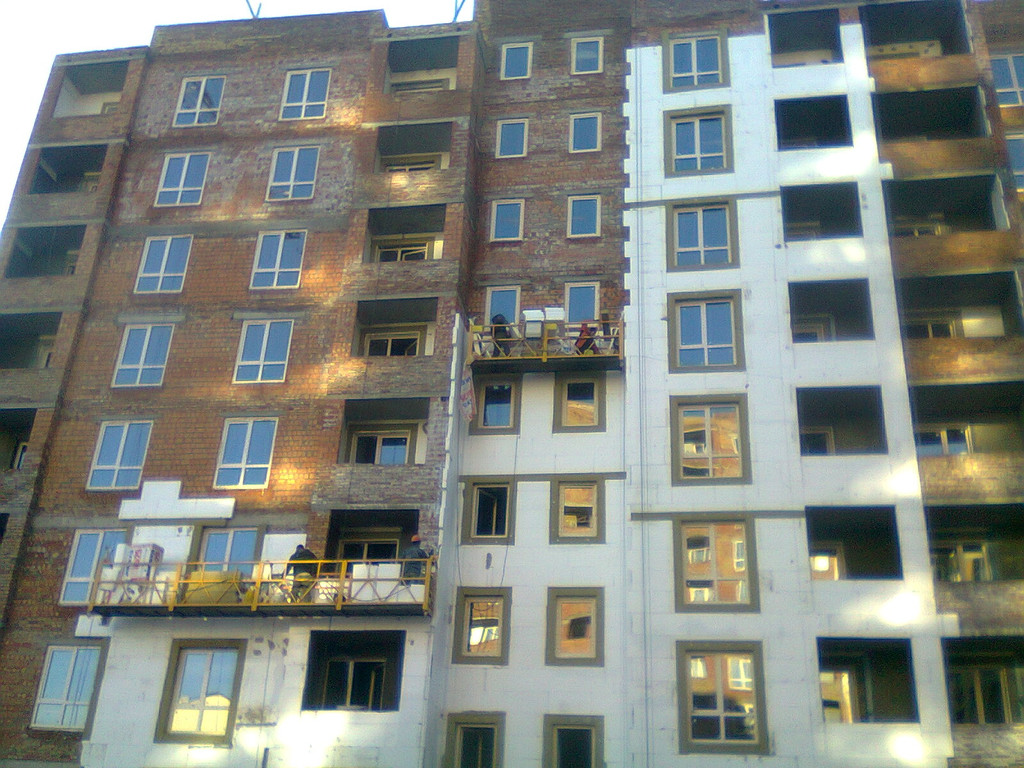 Утепления фасада жк Акварель г.Киев 2000кв.м сроки 45дней 2