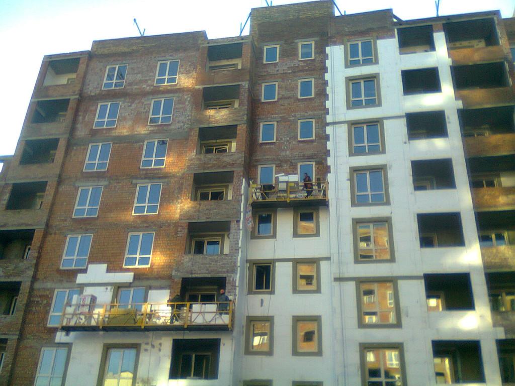 Утепления фасада жк Акварель г.Киев 2000кв.м сроки 45дней 3