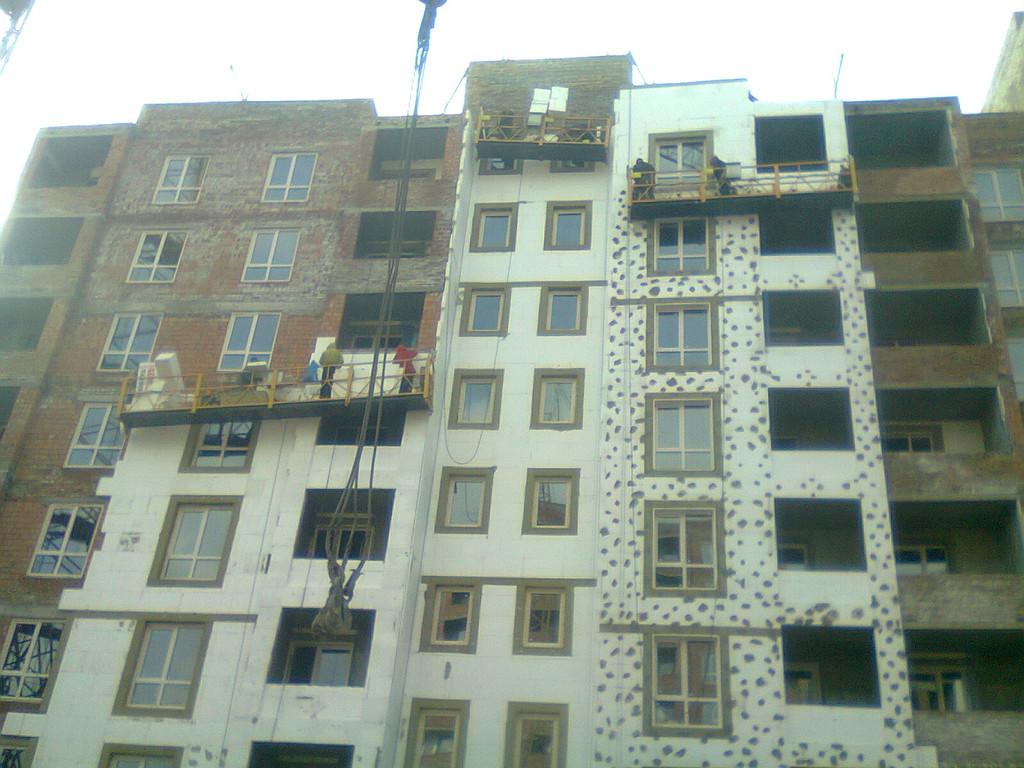 Утепления фасада жк Акварель г.Киев 2000кв.м сроки 45дней 4