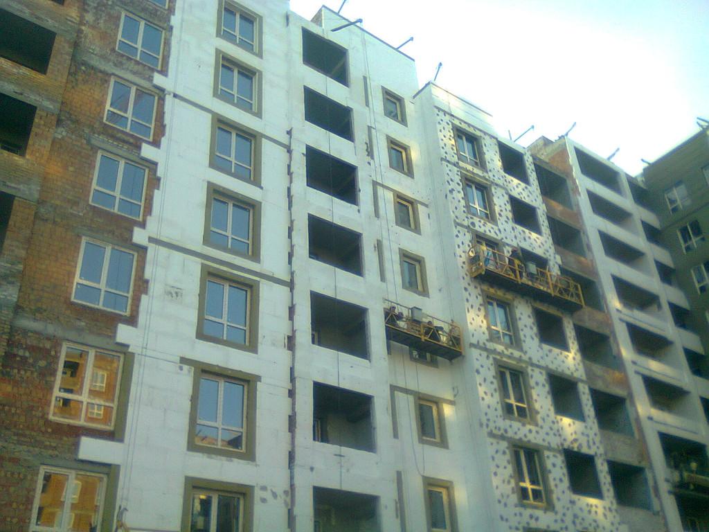 Утепления фасада жк Акварель г.Киев 2000кв.м сроки 45дней 5