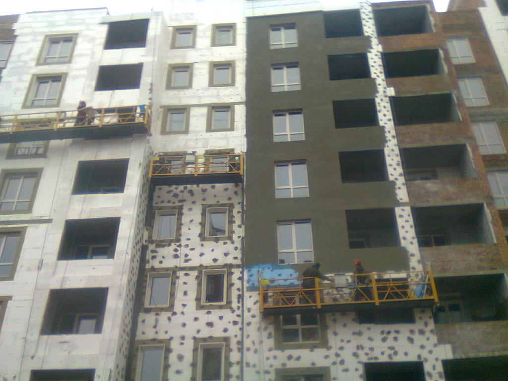 Утепления фасада жк Акварель г.Киев 2000кв.м сроки 45дней 6