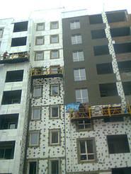 Утепления фасада жк Акварель г.Киев 2000кв.м сроки 45дней 7