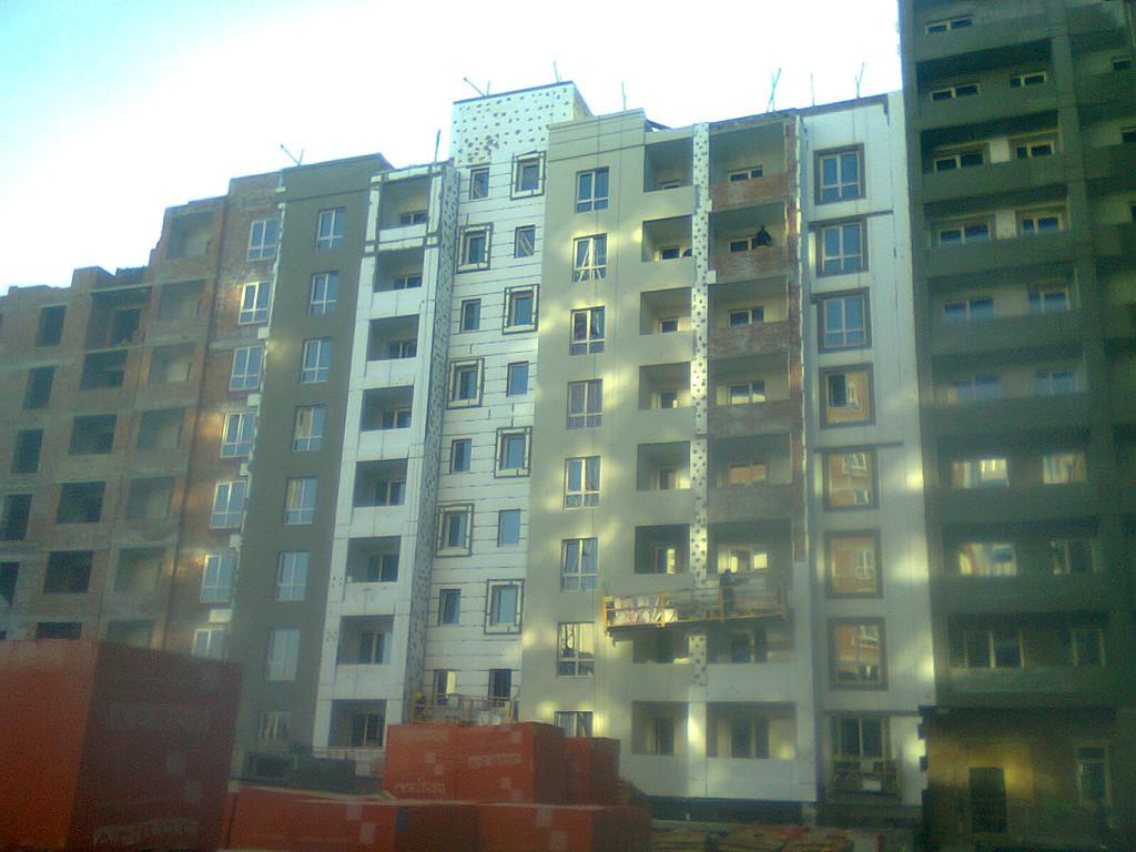 Утепления фасада жк Акварель г.Киев 2000кв.м сроки 45дней 8