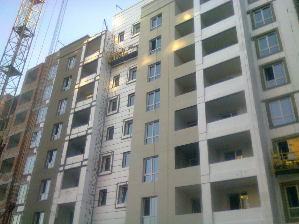 Утепления фасада жк Акварель г.Киев 2000кв.м сроки 45дней 10