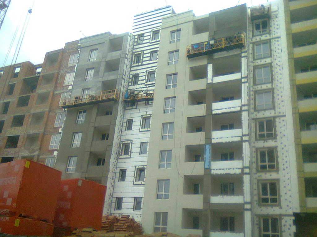 Утепления фасада жк Акварель г.Киев 2000кв.м сроки 45дней 12
