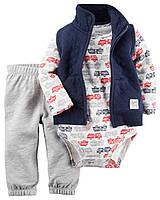 Комплект для мальчика Carters со стеганной жилеткой, Размер 24м, Размер 24м