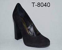 Туфли замшевые, черные