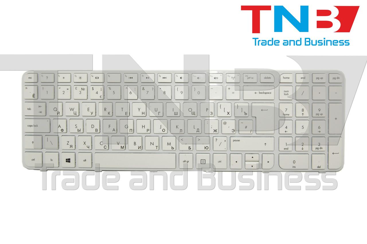 Клавиатура HP g6-2053 g6-2240 g6-2341 белая+рамка