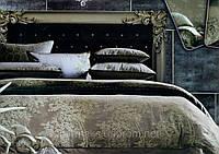 Комплект постельного белья хлопок с шелком, с узором деревья