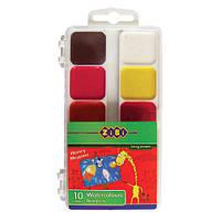 Акварель 10 цвет. ZiBi 6520 в пластиковой упаковке