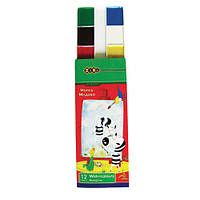 Акварель 12 цвет. ZiBi 6501 в картонной упаковке