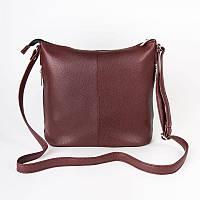 Бордовая сумка М78-38 планшет наплечная средняя