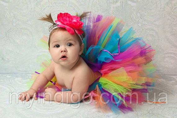 Разноцветная юбка -пачка для девочки