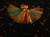 Разноцветная юбка -пачка для девочки, фото 2