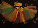 Кольорова спідниця -пачка для дівчинки, фото 4