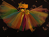 Разноцветная юбка -пачка для девочки, фото 4