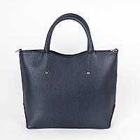 Темно-синяя сумка классической формы средняя М75-39