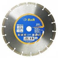 Диск отрезной алмазный S&R Meister сегментный по бетону 350 мм.