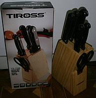 Качественный набор ножей на деревянной подставке Tiross TS-1286 из Европы