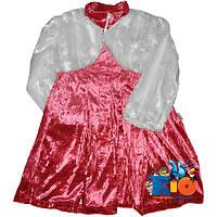 """Детское нарядное платье с болеро """"Sekerim""""  , велюр , для девочек от 4-5-6 лет"""