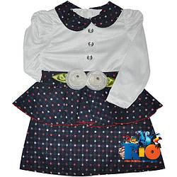 """Детское нарядное платье с баской """"Розы"""" , для девочек от 2-3-4 лет"""