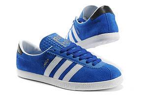 Кроссовки Adidas London синие с белым