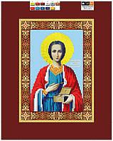 """Схема для вышивки бисером на подрамнике (холст) икона """"Святой Пантелеймон Целитель"""""""