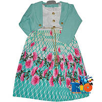 """Детское нарядное платье с болеро """"Плиссе"""" , для девочки от 4-6-8-10 лет"""