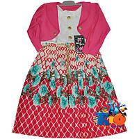 """Детское нарядное платье с болеро """"Плиссе"""" , для девочек от 4-6-8-10 лет"""