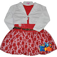 """Детское нарядное платье с болеро """"Flowers"""" , для девочки от 2-3-4 лет"""