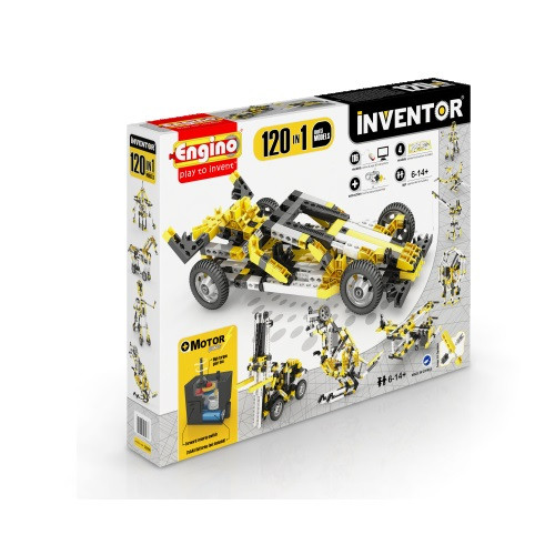 Конструктор «Engino» (12030) Inventor Motorized, 120 в 1, с электродвигателем