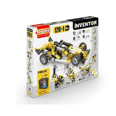 Конструктор «Engino» (12030) Inventor Motorized, 120 в 1, с электродвигателем, фото 2