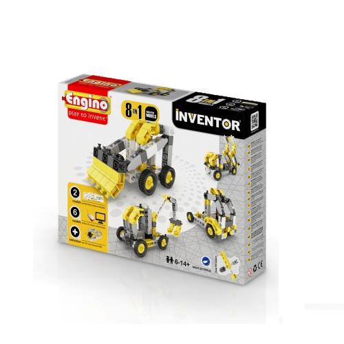 Конструктор «Engino» (0834) Inventor Строительная техника, 8 в 1