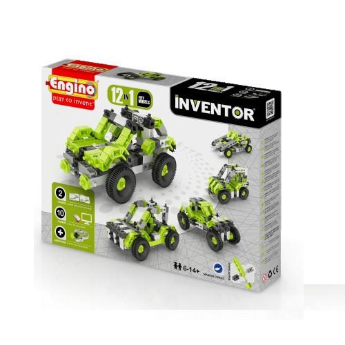 Конструктор «Engino» (1231) Inventor Автомобили, 12 в 1